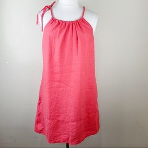 Tommy Bahama Linen Orange Sun Casual Dress XL